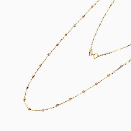 گردنبند طلا 18 عیار زنانه زنجیری مدل آلبرنادو کد NL0177
