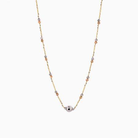 گردنبند طلا 18 عیار زنانه زنجیری مدل آلبرنادو کد NL0178
