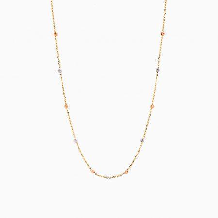 گردنبند طلا 18 عیار زنانه زنجیری مدل آلبرنادو کد NL0179