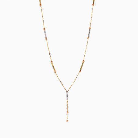 گردنبند طلا 18 عیار زنانه زنجیری مدل آلبرنادو آویز دار کد NL0180