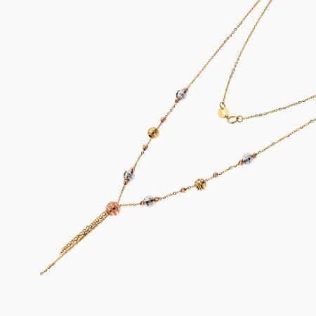 گردنبند طلا 18 عیار زنانه زنجیری مدل آلبرنادو آویز دار کد NL0184