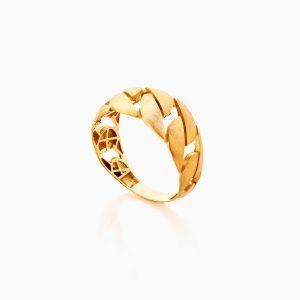انگشتر طلا 18 عيار زنانه کد RG0356