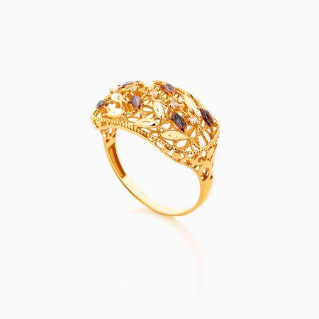انگشتر طلا 18 عيار زنانه کد RG0357