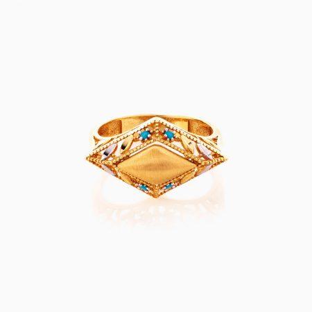 انگشتر طلا 18 عيار زنانه کد RG0358