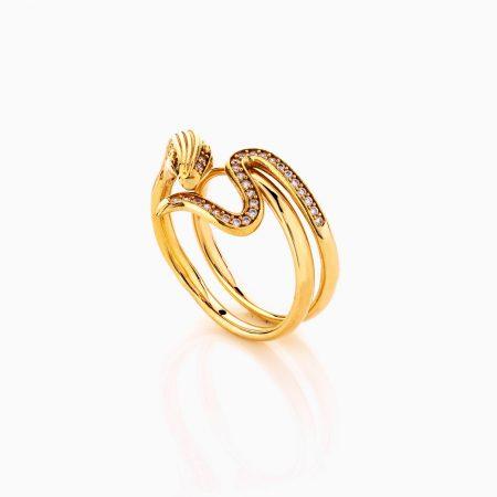 انگشتر طلا 18 عيار کد rg0407