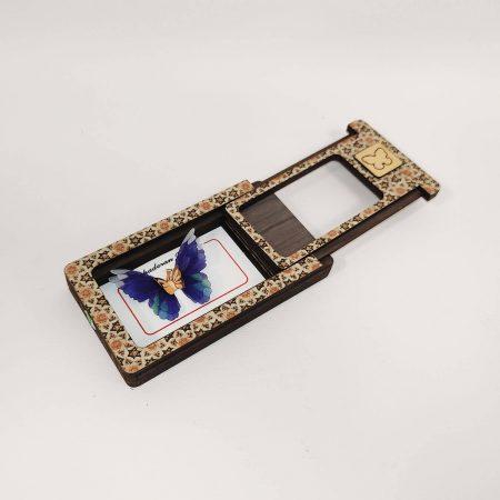 گردنبند طلای پروانه ای مدل آبی کاربنی رنگ کد pd0406