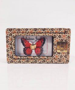 گردنبند طلای پروانه ای مدل قرمز خالدار رنگ کد pd0414