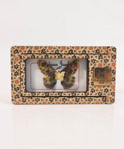 گردنبند طلای پروانه ای مدل پلنگی رنگ کد pd0417
