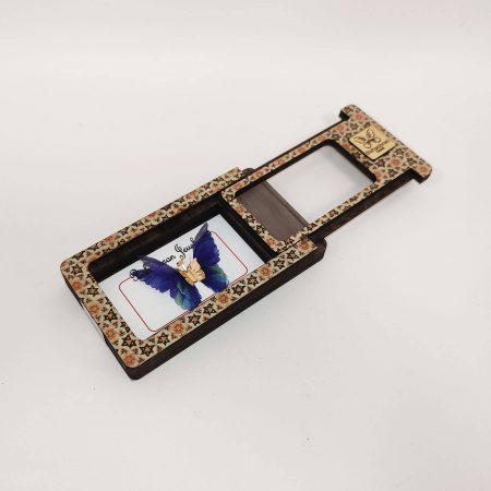 گردنبند طلای پروانه ای مدل آبی نیلی رنگ کد pd0416