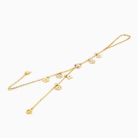 تمیمه طلا 18 عیار زنانه زنجیری مدل ونکلیف کد BL0285