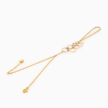 تمیمه طلا 18 عیار زنانه فانتزی مدل آویز شش ضلعی کد BL0293