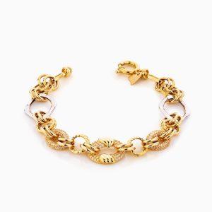 دستبند طلا 18 عیار زنانه مدل کارتیر زنجیری کد BL0295