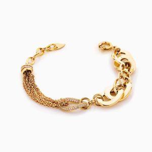 دستبند طلا 18 عیار زنانه مدل کارتیر زنجیری کد BL0296