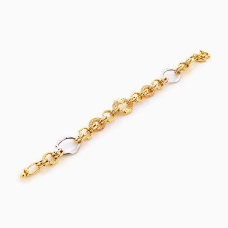 دستبند طلا 18 عیار زنانه مدل کارتیر کد BL0299