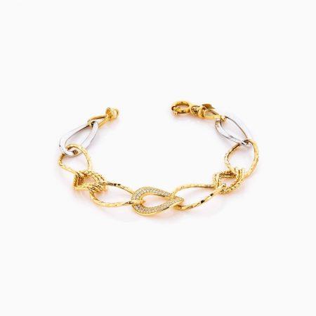 دستبند طلا 18 عیار زنانه مدل کارتیر کد BL0301