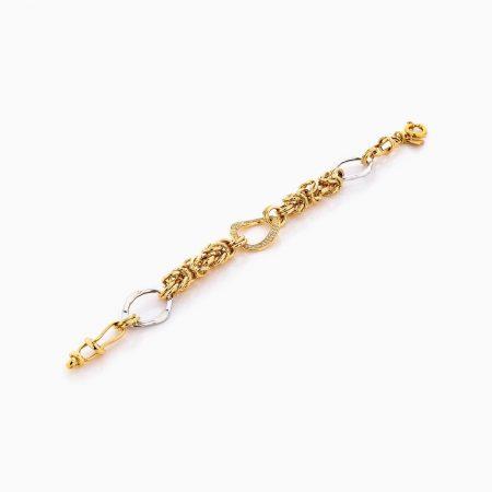 دستبند طلا 18 عیار زنانه مدل کارتیر کد BL0303