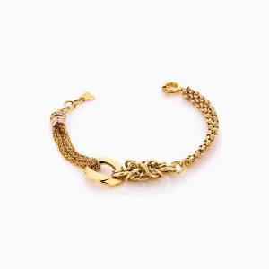 دستبند طلا 18 عیار زنانه مدل کارتیر زنجیری کد BL0304