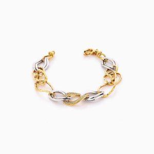 دستبند طلا 18 عیار زنانه مدل کارتیر کد BL0306