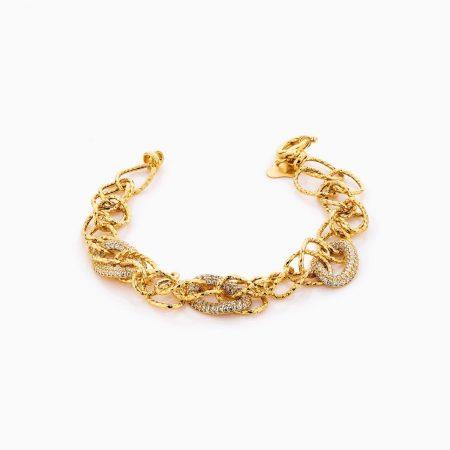 دستبند طلا 18 عیار زنانه مدل کارتیر کد BL0307