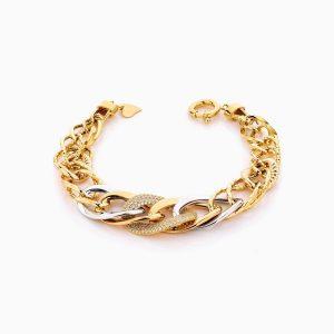 دستبند طلا 18 عیار زنانه مدل کارتیر کد BL0308