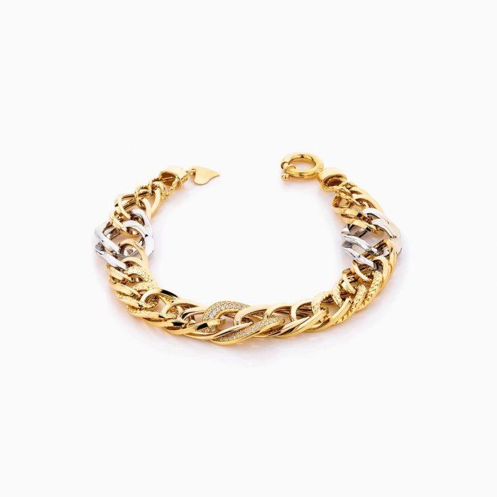 دستبند طلا 18 عیار زنانه مدل کارتیر کد BL0309