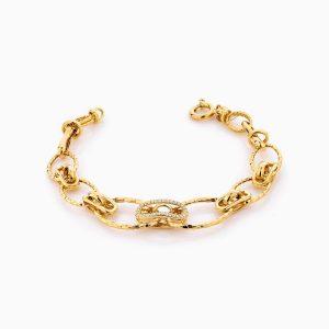 دستبند طلا 18 عیار زنانه مدل کارتیر کد BL0311