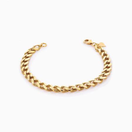 دستبند طلا 18 عیار زنانه مدل کارتیر کد BL0314