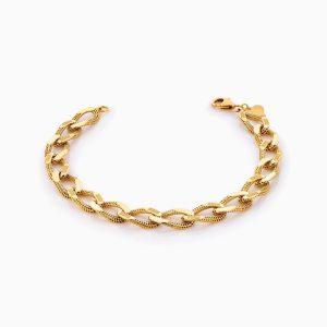 دستبند طلا 18 عیار زنانه مدل کارتیر کد BL0315