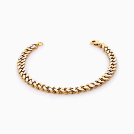 دستبند طلا 18 عیار زنانه مدل کارتیر کد BL0318