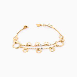 دستبند طلا 18 عیار زنانه مدل کد BL0325