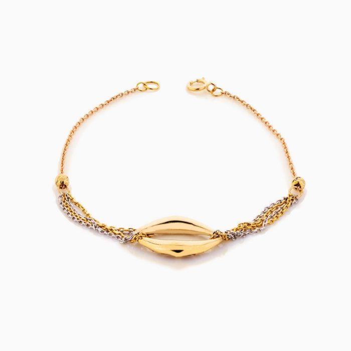 دستبند طلا 18 عیار زنانه زنجیری مدل چشم کد BL0328