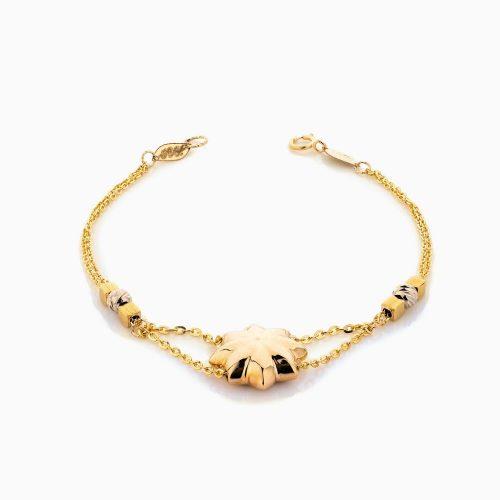 دستبند طلا 18 عیار زنانه زنجیری مدل ستاره کد BL0334