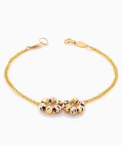 دستبند طلا 18 عیار زنانه زنجیری مدل آلبرنادو کد BL0340