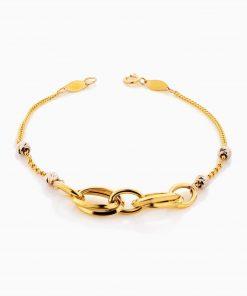 دستبند طلا 18 عیار زنانه زنجیری مدل لوکس کد BL0344