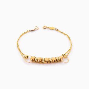 دستبند طلا 18 عیار زنانه زنجیری مدل نردبانی کد BL0347