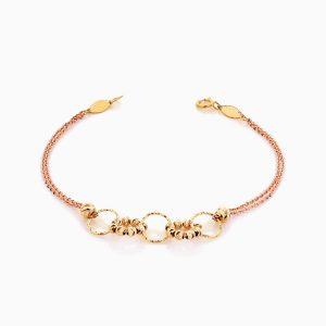 دستبند طلا 18 عیار زنانه زنجیری مدل آلبرنادو کد BL0365