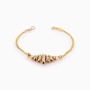 دستبند طلا 18 عیار زنانه زنجیری مدل آلبرنادو کد BL0368