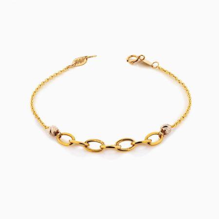 دستبند طلا 18 عیار زنانه زنجیری مدل رولو کد BL0370