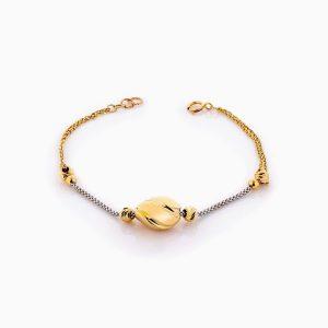 دستبند طلا 18 عیار زنانه زنجیری مدل گوی وزنجیر کد BL0376