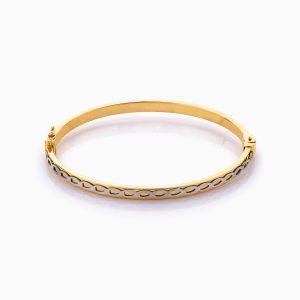 دستبند طلا 18 عیار زنانه النگویی مدل پرنس کد BL0378