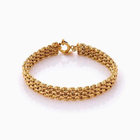 دستبند طلا 18 عیار زنانه زنجیری مدل رولکس کد BL0381