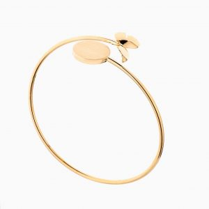 دستبند طلا 18 عیار زنانه بنگل مدل پروانه کد BL0384