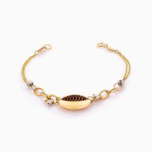 دستبند طلا 18 عیار زنانه زنجیری طرح چشم کد BL0391