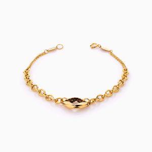 دستبند طلا 18 عیار زنانه زنجیری طرح چشم کد BL0407