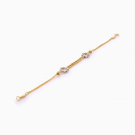 دستبند طلا 18 عیار زنانه زنجیری مدل کارتیر کد BL0409