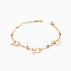 دستبند طلا 18 عیار زنانه فانتزی مدل پروانه کد BL0413