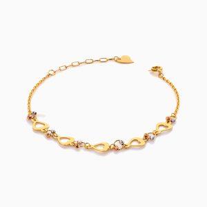 دستبند طلا 18 عیار زنانه فانتزی مدل قلب کد BL0416