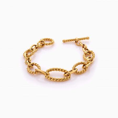 دستبند طلا 18 عیار زنانه اسپورت مدل یورمن کد BL0423