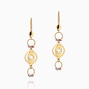 گوشواره طلا 18 عیار زنانه مدل آویز لویی ویتون کد ER0164