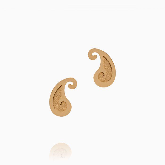 گوشواره طلا 18 عیار زنانه طرح بته جقه کد ER0287